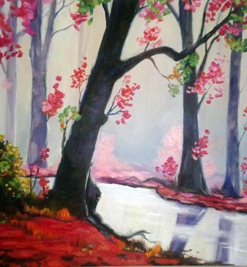"""""""Inner Peace"""", Öl auf Leinwand, 60 x 40 cm"""