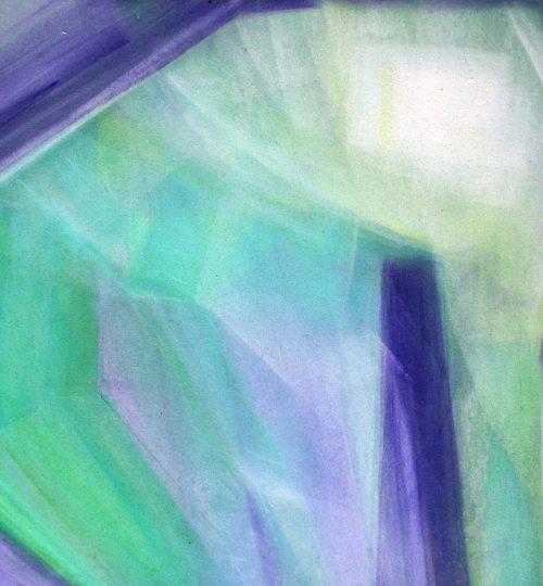 """""""Komposition IV"""", Pastellkreide auf Papier, 36 x 48 cm"""