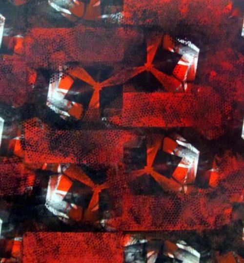 """""""Red Lentils"""", Siebdruck und Acryl auf Papier, 84 x 118,8 cm"""