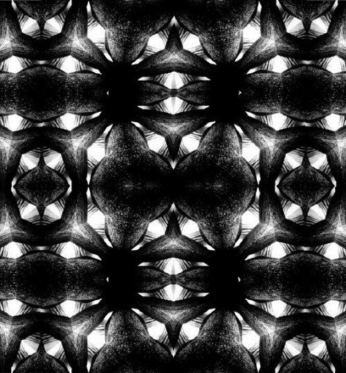 """""""Kaleidoskopmuster 1"""", Digitale Montage, 21 × 29,7 cm"""