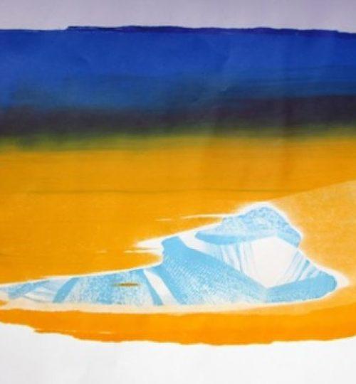 """""""Fata Morgana"""", Siebdruck auf Papier, 43 x 64 cm"""