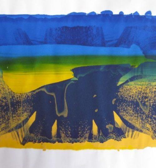 """""""Elefant in der Wüste"""", Siebdruck auf Papier, 41 x 64 cm"""