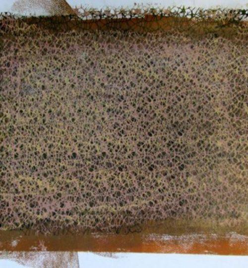 """""""Netzvariation 3"""", Siebdruck auf Aquarellpapier, 50 x 70 cm"""
