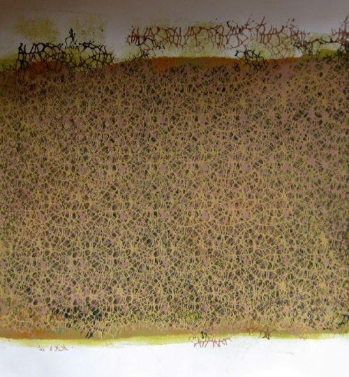 """""""Network"""", Siebdruck auf Büttenpapier, 52,5 x 75,5 cm"""