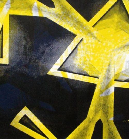 """""""Strahlenschiff"""", Siebdruck auf Papier, 21 cm × 29,7 cm"""