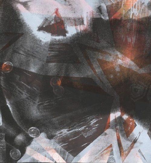 """Out of Space 1"", Siebdruck auf Papier, 21 cm × 29,7 cm"