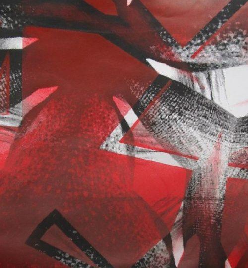 """""""Triangelrot"""", Siebdruck auf Papier, 21 × 29,7cm"""