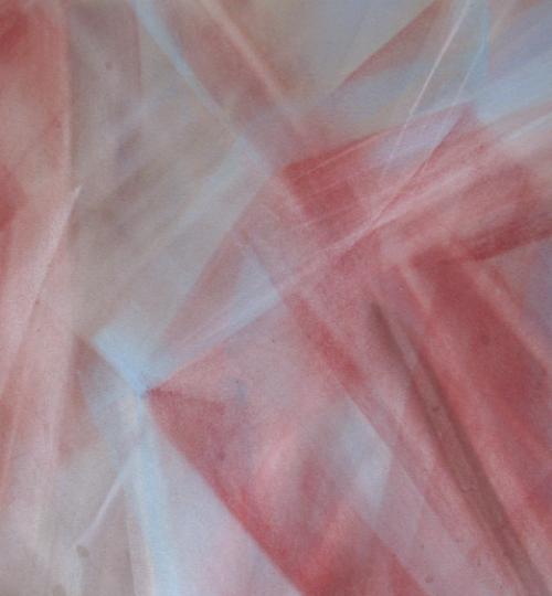 """Komposition V"", Pastellkreide auf Papier, 36 x 48 cm"