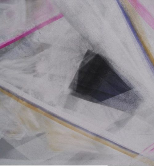 """Komposition I"", Pastellkreide auf Papier, 36 x 48 cm"